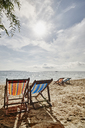 Thailand, Phi Phi Islands, Ko Phi Phi, deckchairs on the beach - RORF01072