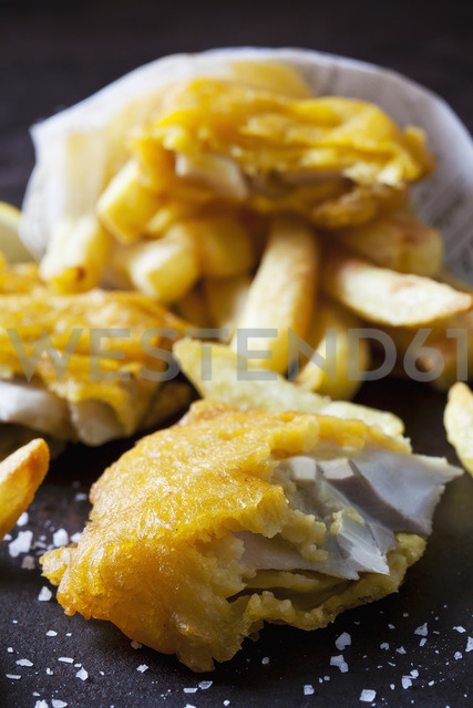 Fish and chips, close-up - CSF28836