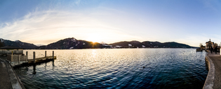 Germany, Bavaria, Tegernsee at sunset - PUF01181