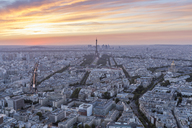 France, Paris, City view at sunset - RPSF00186