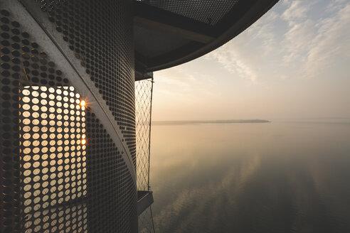 Germany, Sachsen-Anhalt, Bitterfeld, Lake Goitzsche, Gauge Tower - ASCF00781