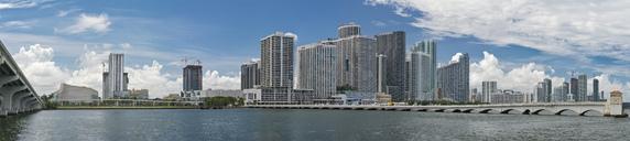 USA, Florida, Miami, panorama view of skyline - SHF01988