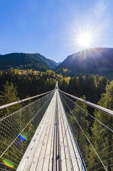 Switzerland, Valais, Goms Bridge, swing bridge - WDF04366