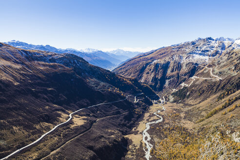 Switzerland, Valais, Alps, view to Furka and Grimsel Pass right - WDF04369
