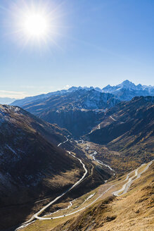 Switzerland, Valais, Alps, view to Furka and Grimsel Pass - WDF04372