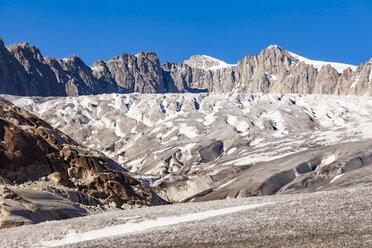 Switzerland, Valais, Alps, Rhone glacier - WDF04378