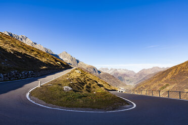 Switzerland, Valais, Alps, Furka pass, hairpin bend - WDF04381