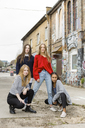 Germany, Berlin, group picture of four girlfriends - OJF00231