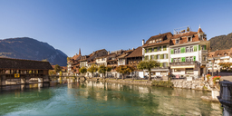 Switzerland, Bern, Bernese Oberland, Interlaken, Old town, Aare river - WDF04410