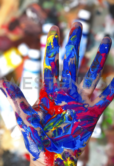 Colorful hand - JTF00894