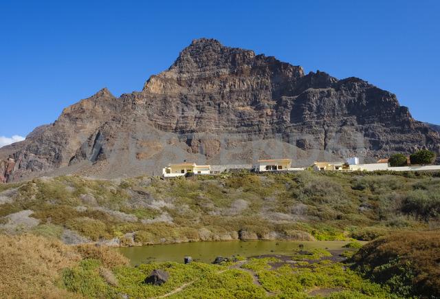 Spain, Canary Islands, La Gomera, holiday homes, Charco del Cieno, Riscos de la Merica - SIEF07706
