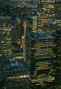 USA, New York, Manhattan, high-rise buildings at night - DAPF00881