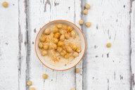 Bowl of Hummus garnished with chick peas - LVF06662