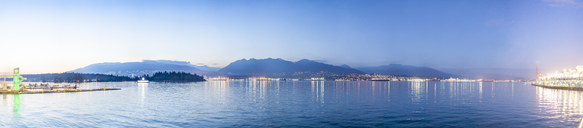 Canada, British Columbia, Vancouver, panoramic view of seaside, view from port - MMAF00229