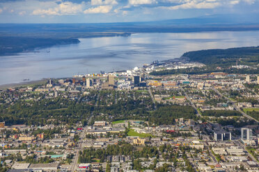 USA, Alaska, Anchorage, aerial view - MMAF00286