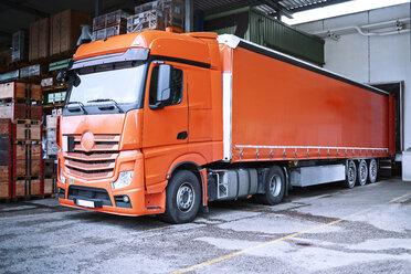 Truck at loading bay - CVF00114
