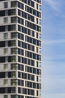 Germany, Stuttgart, modern apartment tower, partial view - WDF04418