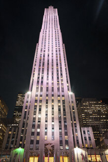 USA, New York City, Rockefeller Center at night - SEEF00016