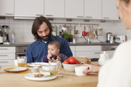 Family having breakfast at home - FSIF00039