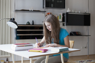 Girl studying at home - FSIF00111