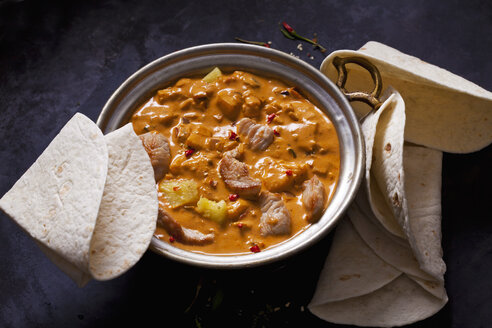 Curry dish with turkey and pineapple in curry sauce - CSF28930
