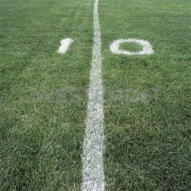 The ten yard line on an American football field - FSIF00573