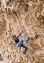 Greece, Kalymnos, climber in rock wall - ALRF00905