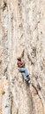 Greece, Kalymnos, climber in rock wall - ALRF00911