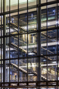 Germany, Baden-Wuerttemberg, office building at night - WDF04440