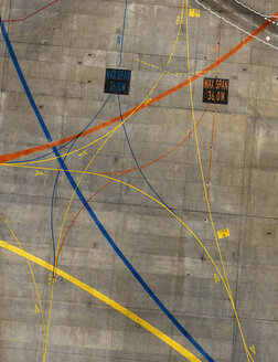 Aerial view of markings at airport - FSIF01307