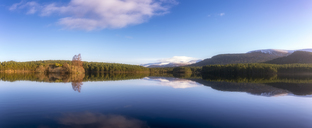 United Kingdom, Scotland, Highlands, Cairngorms National Park, Loch an Eilean in winter - SMAF00947