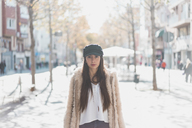 Portrait of stylish young woman in the city - AFVF00011