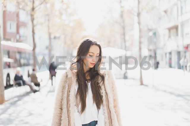 Portrait of stylish young woman in the city - AFVF00014