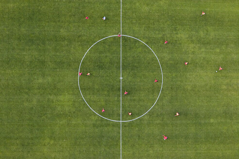 Aerial view of football match - FSIF02342