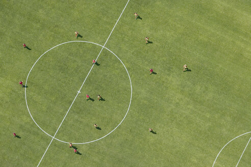 Aerial view of football match - FSIF02345
