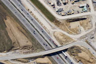 Aerial view of a construction site and motorway - FSIF02541