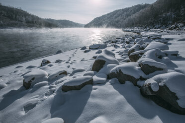 Russia, Amur Oblast, Bureya River in winter - VPIF00314