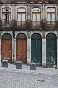 Portugal, Porto, house facade, partial view - JPF00303