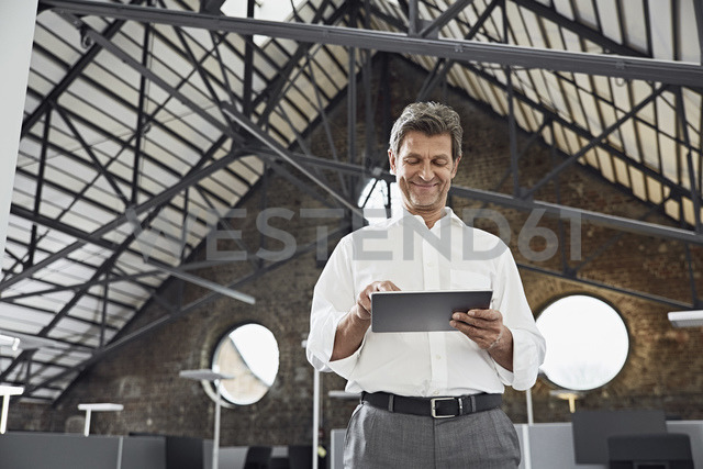 Mature businessman using tablet in modern office - PDF01528