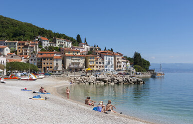 Croatia, Istria, Adria, Kvarner Gulf, Moscenicka Draga, beach - WWF04192