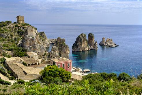 Italy, Sicily, Province of Trapani, Scopello, Tonnara di Scopello, Riserva naturale orientata dello Zingaro - LBF01784