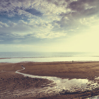 France, Normandy, Low tide in the evening - DWIF00898