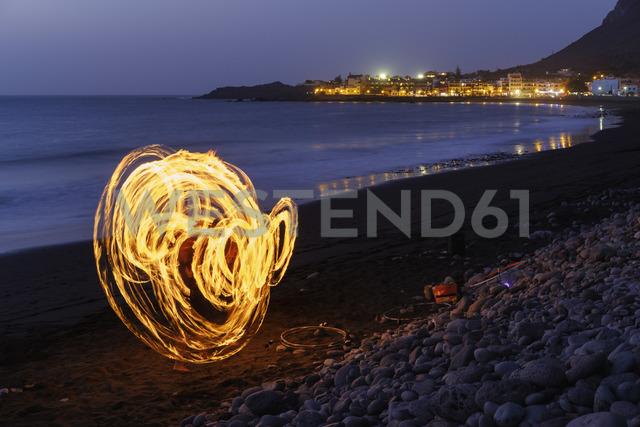 Spain, Canary Islands, La Gomera, Valle Gran Rey, Dance with torches - SIEF07736