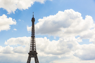 France, Ile-de-France, Paris, Eiffel Tower and clouds - WPEF00121