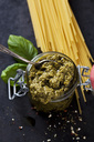 Preserving jar of basil pesto - CSF28949