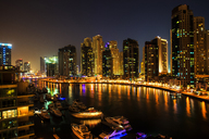 United Arab Emirates, Dubai, Dubai Marina at night - ZEF15011