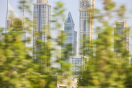 United Arab Emirates, Dubai, Cityscape and blurred trees - ZEF15014