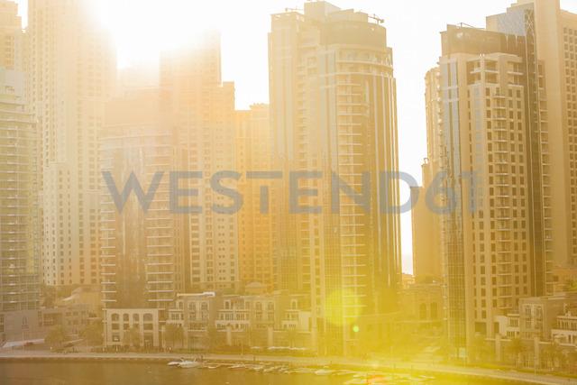 United Arab Emirates, Dubai, Dubai Marina and sun light - ZEF15020