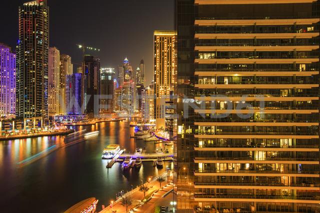 United Arab Emirates, Dubai, Dubai Marina at night - ZEF15026
