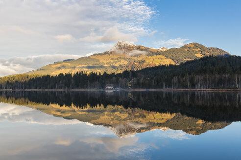 Austria, Tyrol, Kitzbuehel, Kitzbuehel Alps, Schwarzsee and Kitzbueheler Horn - FOF09848
